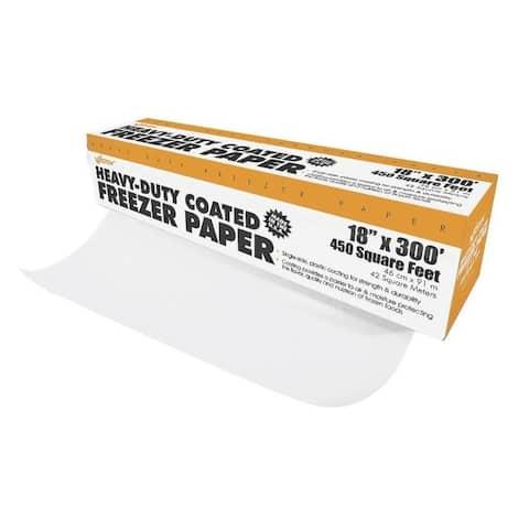 """Weston 834001W Heavy Duty Freezer Paper, 18"""" x 300'"""