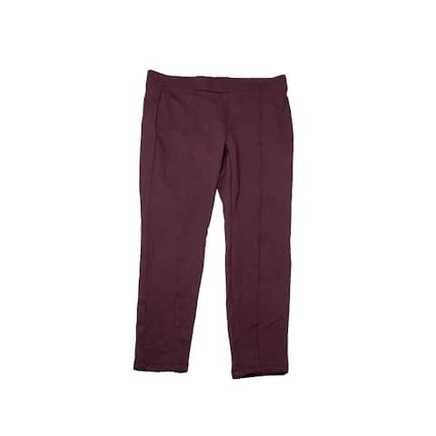 Style & Co Plus Size Plum Seamed Leggings 22W