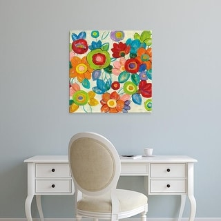 Easy Art Prints Silvia Vassileva's 'Decorative Flowers' Premium Canvas Art