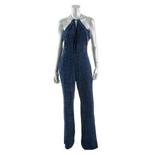Diane Von Furstenberg Womens Silk Halter Jumpsuit