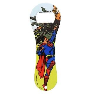 DC Comics Superman Meteor Dogbone Bottle Opener, Yellow Background - Multi