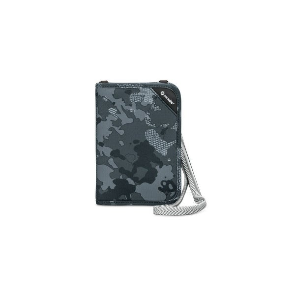 Pacsafe 10561802-Grey Camo RFIDsafe Compact Organiser w/ Zippered Note Slot