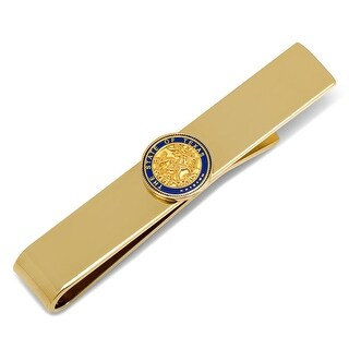 State of Texas Seal Tie Bar - GOLD