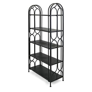 IMAX Home 78263 Sedex 36 Inch Wide Iron Storage Shelving - Brown - N/A