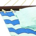 Sunnydaze 2-Person Quilted Hammock with Spreader Bars and Detachable Pillow - Hammock Stand Included - Thumbnail 2