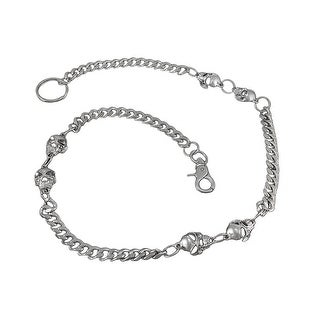 Double Strand Polished Chrome Link Wallet Chain 25 Inch