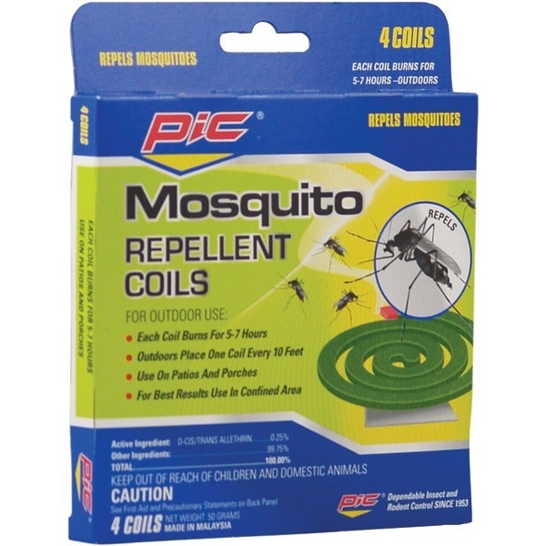 Pic C412 Mosquito Repellent Coils, 4 Pk