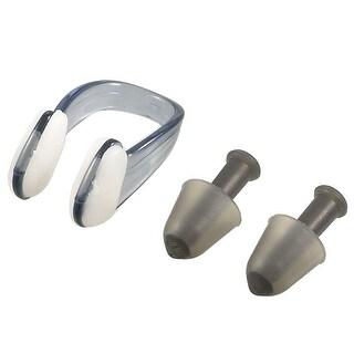 Unique Bargains Unique Bargains Protective Black Plastic Nose Clip + Silicone Earplugs Set