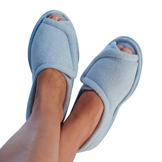 Women's Clinic Comfort Terry Cloth Slippers - Light Blue