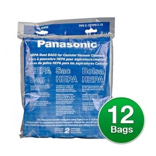 Genuine Panasonic Type C-19 / MC-V295H Vacuum Cleaner Bags HEPA 12 Bags|https://ak1.ostkcdn.com/images/products/is/images/direct/a0053cf684cec8e63f0d1a070efdc8ced8f9039e/Genuine-Vacuum-Bag-for-Panasonic-MCV295H-%286-Pack%29-Genuine-Vacuum-Bag.jpg?impolicy=medium