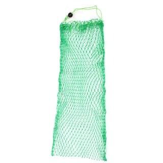 "Unique Bargains 0.8"" x 0.8"" Nylon Flexible Frame Fishing Landing Net Fish Basket Drawstring for Fishermen Crawfish Green"