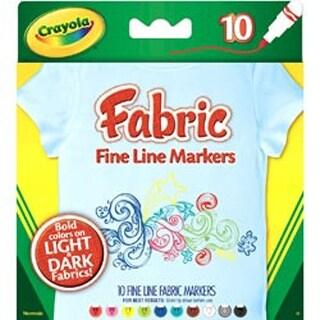 Crayola Fine Line Fabric Markers 10/Pkg-