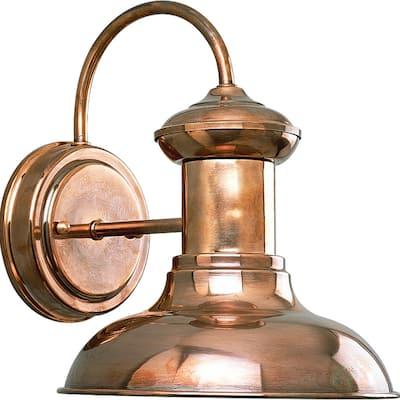 """Brookside 1-light Cognac Farmhouse Outdoor Wall Lantern - 11.610"""" x 10.830"""" x 9.250"""""""