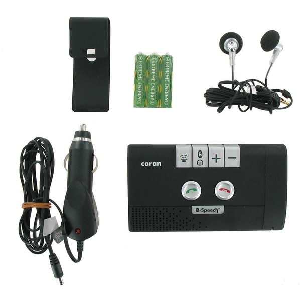 B-Speech Caran Hands-free Bluetooth Speaker Car Visor Mount Kit with Rechargeabl