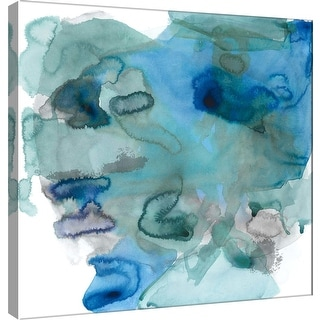 """PTM Images 9-100933  PTM Canvas Collection 12"""" x 12"""" - """"Amorphous K"""" Giclee Abstract Art Print on Canvas"""