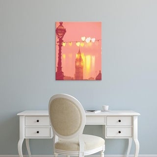 Easy Art Prints Keri Bevan's 'Night Rainbow' Premium Canvas Art