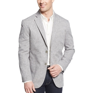 Tasso Elba Island Grey Linen Blend Two Button Sportcoat X-Large