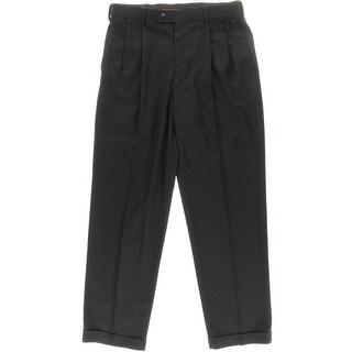 Louis Raphael Mens Expandable Double Pleat Dress Pants - 33/32