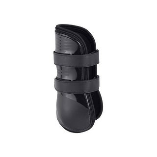 Tough-1 Boots Open Front Tendon Jumping Neoprene Lining Black