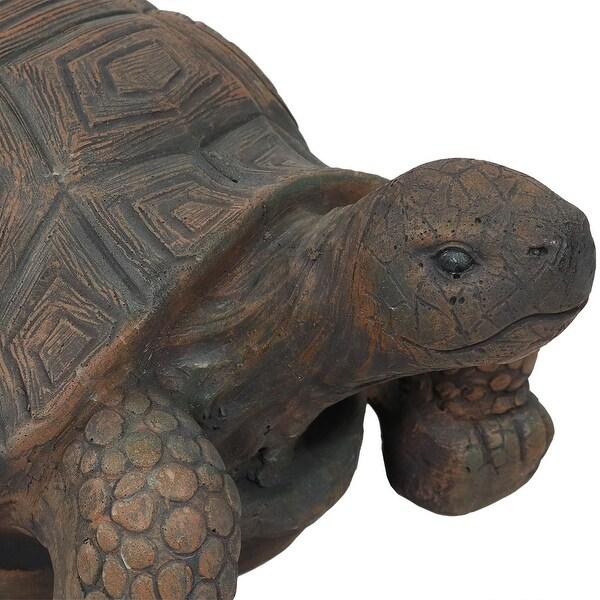Sunnydaze Tanya The Tortoise Garden Statue Large Indoor Outdoor