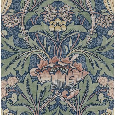 NextWall Morris Flower Peel and Stick Wallpaper