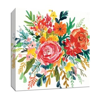 "PTM Images 9-147700  PTM Canvas Collection 12"" x 12"" - ""Bright Bouquet II"" Giclee Flowers Art Print on Canvas"