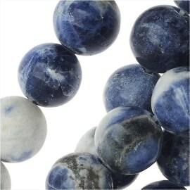 Blue Sodalite Gemstone Round Beads (Lapis Color) 8mm - 15.5 Inch Strand