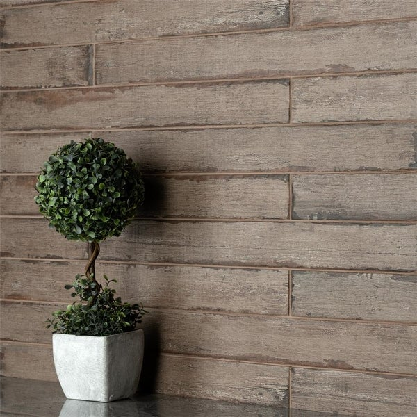 SomerTile 2.75x23.5-inch Lambris Terra Porcelain Floor and Wall Tile. Opens flyout.