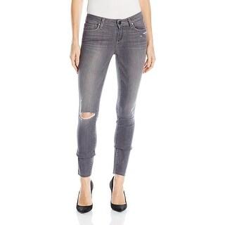Paige Verdugo Ankle Raw Hem Mid Rise Ultra Skinny Jeans Pants