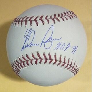 Nolan Ryan Autographed Texas Rangers OML Baseball HOF JSA