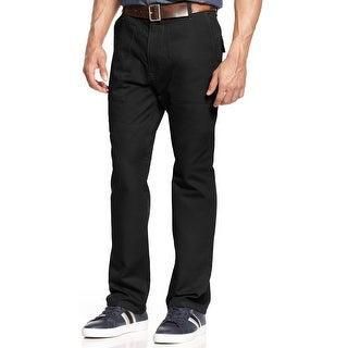 Sean John Big and Tall Patch Pocket Utility Pants PM Black 42 x 32