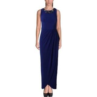 Lauren Ralph Lauren Womens Petites Evening Dress Matte Jersey Embellished