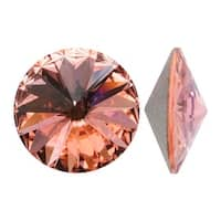 Swarovski Elements Crystal, 1122 Rivoli Fancy Stones 14mm, 2 Pieces, Rose Peach F