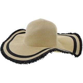 David & Young Womens Straw Wide Brim Sun Hat - o/s