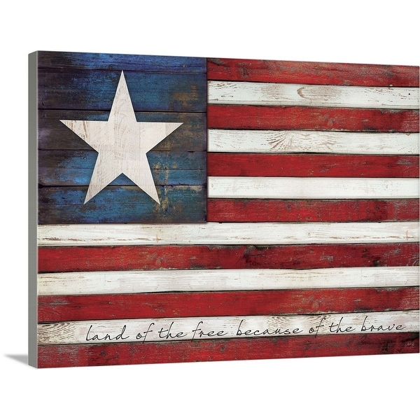 """""""Land Of The Free"""" Canvas Wall Art"""
