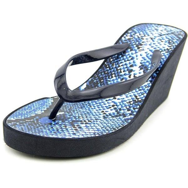 Steve Madden Abssolut Women Open Toe Synthetic Blue Wedge Sandal