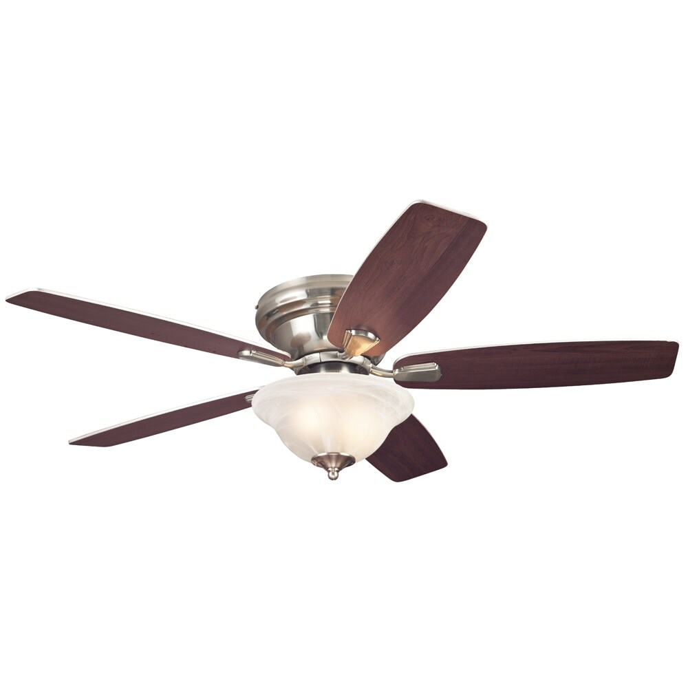 Westinghouse 7247600  Sumter 52 5 Blade Hugger Indoor Ceiling Fan with Reversible Motor, Blades, and Light Kit Included