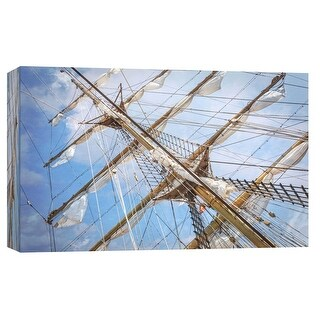 "PTM Images 9-103764  PTM Canvas Collection 8"" x 10"" - ""Tall Ship Masts"" Giclee Ships Art Print on Canvas"