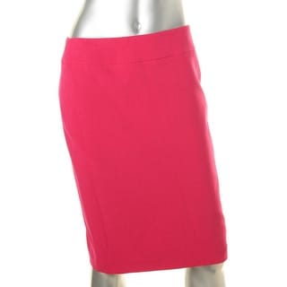 Nine West Womens Solid Stretch Straight Skirt