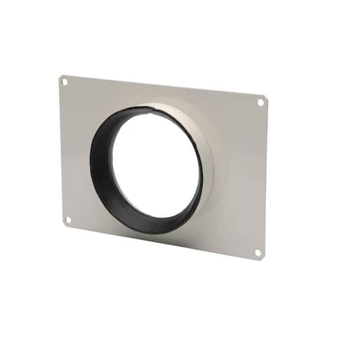"Soler and Palau MAR-100 4""/100MM TD Rectangular Duct Connector - - Metal w/Off-White Epoxy Coating"