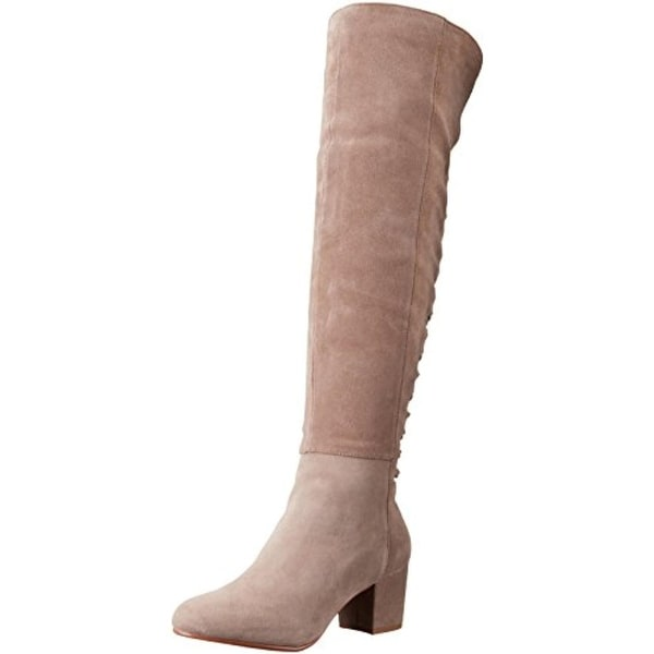 Steve Madden Womens Hansil Over-The-Knee Boots Suede Covered
