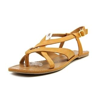 American Rag Logan Women Open-Toe Synthetic Brown Slingback Sandal