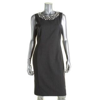 Calvin Klein Womens Wear to Work Dress Sleeveless Knee-Length