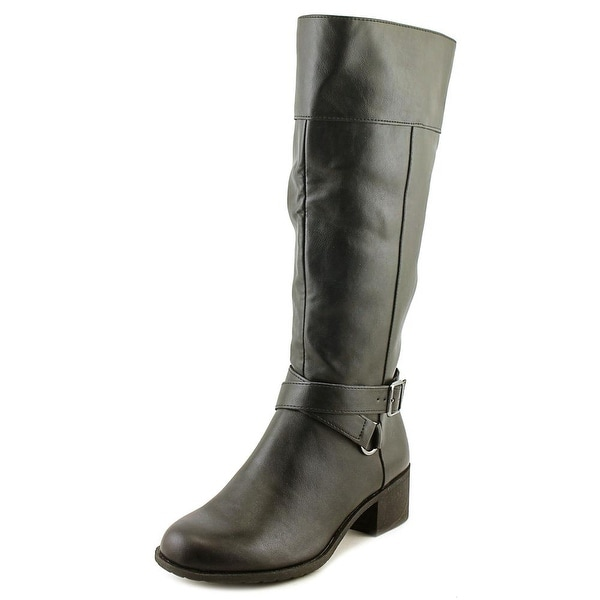 Style & Co Vedaa Women Round Toe Synthetic Black Mid Calf Boot