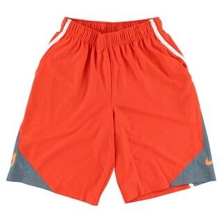 Nike Boys KD Surge Essential Basketball Shorts Orange - orange/grey/white