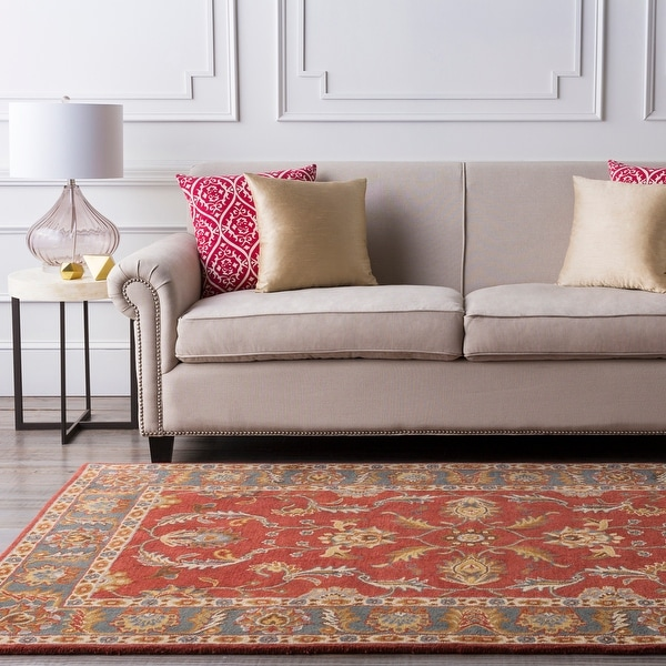 Coliseum Hand Tufted Traditional Border Wool Area Rug. Opens flyout.