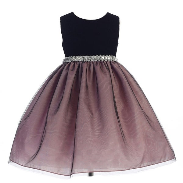 c77daa41fa8 Shop Crayon Kids Little Girls Dusty Rose Glitter Waist Flower Girl Dress 3T  - Free Shipping On Orders Over  45 - Overstock - 18170666