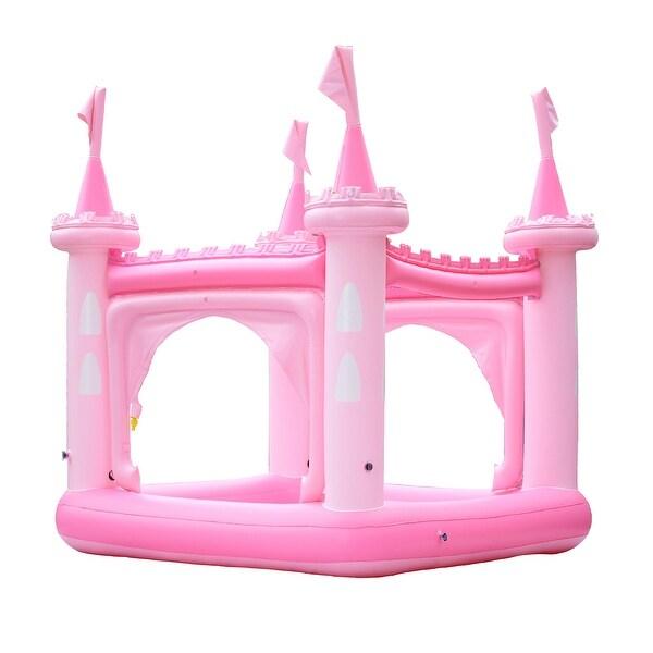Teamson Kids - Water Fun Castle Inflatable Kiddie Pool with pump - Pink. Opens flyout.