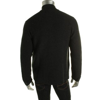 Private Label Mens Cashmere Blend Long Sleeves Cardigan Sweater