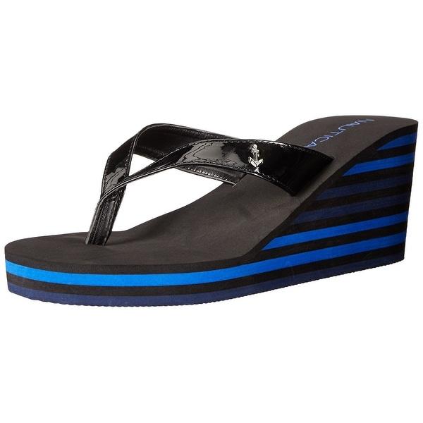 Nautica Womens LANDFALL Open Toe Casual Platform Sandals